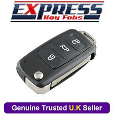 Volkswagen VW Touareg 3 Button Remote Flip Key Fob Case Shell + Logo 2002 - 2010