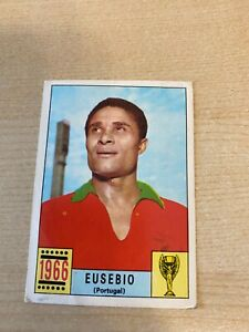 PANINI MEXICO 70 ORIGINAL EUSEBIO 1966 RED-BLACK BACK