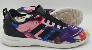 Adidas Originals ZX Flux Smooth Trainers S82937 White/Multi UK7/US8.5/EU40.5