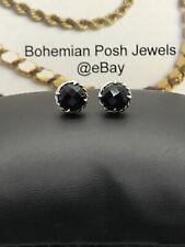 DAVID YURMAN Chatelaine Earrings with Black Onyxs , 10mm Sterling Silver