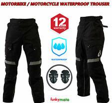 Pantaloni in tessuto moto impermeabili uomo donna pantaloni moto CE Armatura Ner