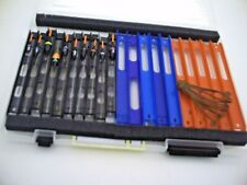 Set of 10 Assorted NGT Carp Pole Rigs in Winder Box + Spare Winders & Anchors.