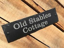 Personalised Engraved Traditional Slate Door House Name Number Shed Sign Plaque