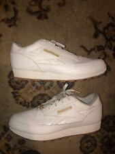 Reebok Classic White Gold Ostrich Mens Shoes Size 11 Gum Sole