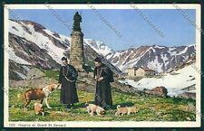 Aosta Gran San Bernardo Cane cartolina QQ5878