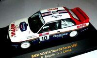 car 1/43 IXO RAC040 BMW M3 (E30) #10 WINNER TOUR DE CORSE'87 BEGUIN-LENN NEW BOX