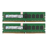 2x For Samsung 8GB 1Rx4 PC4-2133P 17000 DDR4 2133Mhz ECC Server Memory RAM @ES
