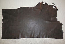 "THIN / SOFT Dark Brown Lambskin Leather Scrap 12""x21"" avg .5mm thick #1245"