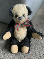 "Darling RARE 9"" Heavy WeightEd Artist Jointed Mohair Panda Bear Untagged Buy Noe"