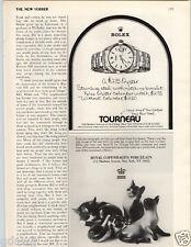 1977 PAPER AD Rolex Oyster Wrist Watch $275. Calendar $275. Royal Copenhagen Cat