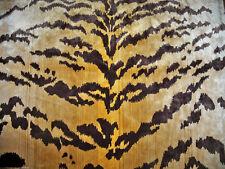 LEE JOFA KRAVET EXOTIC TIGRE TIGER SILK VELVET FABRIC 5 YARDS GOLD IVORY BROWN