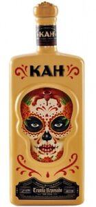 (64,1 €/L) KAH Tequila Reposado / Square Bottle mit Totenkopf / 700ml 40%