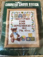 Counted Cross Stitch kit- Birth Announcement 5X7