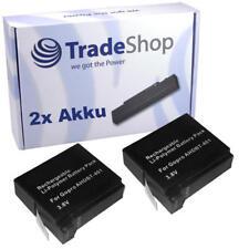 2x AKKU 1160mAh für Go Pro GoPro HD Hero 4 Black Adventure ersetzt AHDBT-401