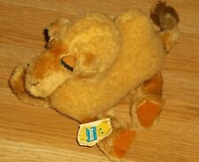 """VINTAGE DAKIN BEAN BAGS 'CURLY CAMEL'  5""""H SITTING / 10""""L NOSE TO TAIL-NEW!"""