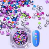 Fluoreszierend Nieten Nagelstollen 3D Nagel Dekoration Star Platz Mehrfarbig