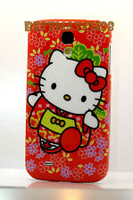 for Samsung galaxy i9500 S4 SIV S IV s 4 red white w/ flowers case