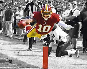 "ROBERT GRIFFIN III RG3 ""SPOTLIGHT"" Redskins 2012 LICENSED RGiii 8x10 photo"