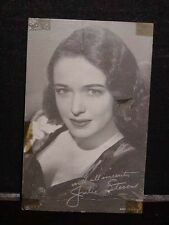 Antique ARCADE CARD Movie Star JULIE STEVENS, c1950s CARD