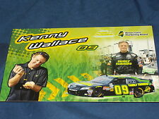 2011 KENNY WALLACE #09 FAMILY FARMERS NASCAR POSTCARD