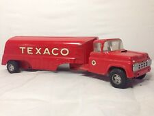 VINTAGE 1961 BUDDY L TEXACO GMC TOY TANKER TRUCK  PRESSED STEEL