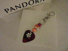 CHARM BRACELET CLASP OPENER TOOL / NAIL SAVER ORANGE BUTTERFLY