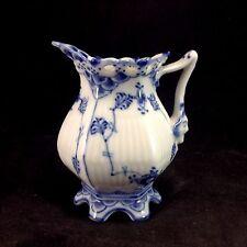 "Royal Copenhagen Full Lace 3.25"" Mini Creamer # 1031 Vintage Porcelain"