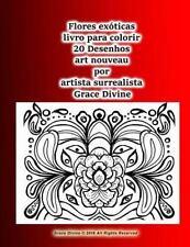 Flores Exóticas Livro para Colorir 20 Desenhos Art Nouveau Por Artista...