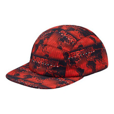 SUPREME WORLD FAMOUS TAPED SEAM CAMP CAP - RED - OS - S/S 2018 - 100% AUTHENTIC