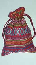 BEAD STORAGE Pouch Bag NEW Tribal Amulet Jewellery Drawstring Gift Stones A300