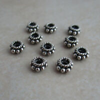 10 sterling silver 5mm Bali spacer beads beaded rope