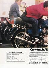 Honda CX500-B classic motorcycle period advert 1981