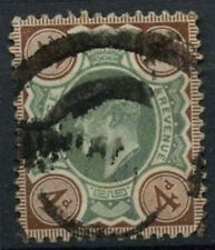 GB KEVII 1902-10, 4d Green And Brown Used #D8481