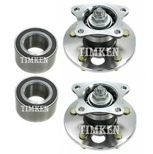 For Toyota Avalon Camry Solara FWD Front & Rear Wheel Bearings & Hubs Kit Timken
