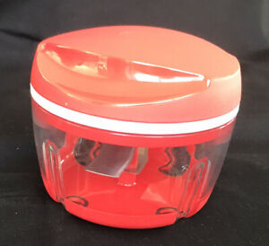 Tupperware 300ml Happy Chopper Red Very Good Condition