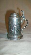 "Miniature 95% Pewter Beer Mug from SKS Designs Playing Cards, Drinking 3.5"" Tall"