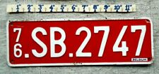 older BELGIUM License Plate Tag - 1976 - Low Shipping