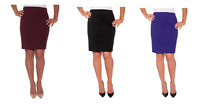 NEW Mario Serrani Womens' Bodymagic Slimming Pencil Skirt w/ Tummy Control