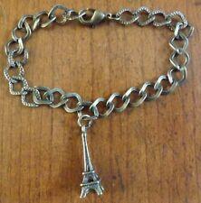 bracelet bronze 18 cm tour eiffel 24x8 mm