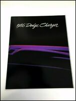 1986 Dodge Charger and Shelby 16-page Original Sales Brochure Catalog