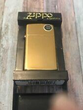 Zippo Slim High Polish Brass 1654b Windproof Flint Lighter