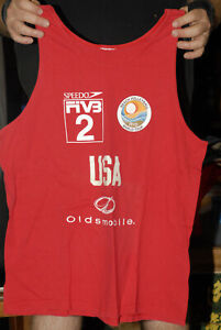Beach Volleyball World Tour tank top Large Speedo competitor jersey