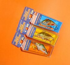 Lot of 3 Ugly Duckling Fishing Lures, Balsa Wood, great for trout, bass, panfish