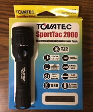 Tovatec SportTac 2000 Waterproof Rechargeable Zoom Torch Scuba Dive Light