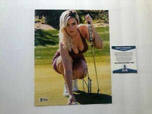 Paige Spiranac Hot signed autographed golf sexy 8x10 photo Beckett BAS coa