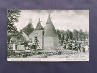±1915 HOP PICKING KENT Unloading Hops At Kilns Old Postcard Rural Life Mockford
