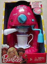 BARBIE,ESPRESSO COFFEE MAKER KITCHEN PLAYSET,W/ LIGHT,SOUNDS & MUSIC,KIDS 3+,NEW