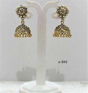 Jhumka jhumki Indian Ethnic Earring gold bali Oxidised Tribal Jeweller Seller