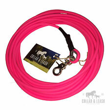 NUOVO Biothane guinzaglio per cani da traccia Lunghina 10m tondo 6mm rosa neon