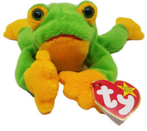 """Ty Beanie Baby """"Smoochy the Frog"""" Vintage 1997 Great Condition, RARE, TAG ERRORS"""